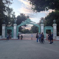 Photo taken at Sather Gate by Sean R. on 6/14/2016