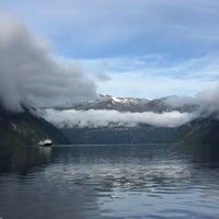 Photo taken at Geirangerfjorden by Alex L. on 8/28/2016