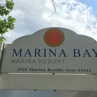 Photo taken at Marina Bay Marine Resort by Ian T. on 5/21/2016