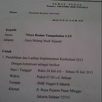 Photo taken at SMKN 8 Jakarta by Rya S. on 7/24/2013