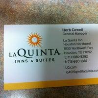 Photo taken at La Quinta Inn & Suites Houston Northwest by 💜💜Priscilla💜💜 on 12/27/2012