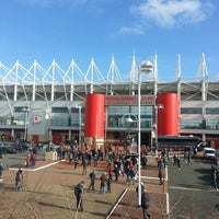 Photo taken at Riverside Stadium by Jo E. on 2/22/2014