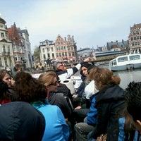 Photo taken at De Bootjes van Gent   Rederij Dewaele by Benji K. on 5/31/2013