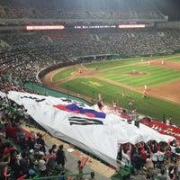 Photo taken at Incheon Munhak Stadium by Hyun uk K. on 8/15/2015