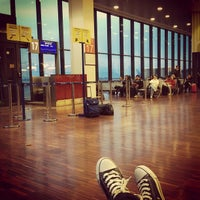 Photo taken at Il Caravaggio International Airport (BGY) by Luisa D. on 2/15/2013