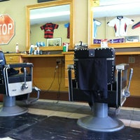 Photo taken at La Flamme Barber Shop by Benjamin L. on 3/4/2013
