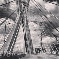 Photo taken at Ponte Octávio Frias de Oliveira (Ponte Estaiada) by Caio A. on 4/21/2013