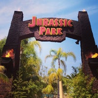 Photo taken at Jurassic Park The Ride by Bryan C. on 6/1/2013