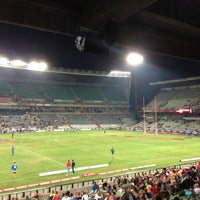 Photo taken at Free State Stadium (Vodacom Park) by Laura C. on 5/18/2013