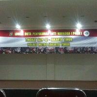 Photo taken at Polres Metro Jakarta Timur by Farhan F. on 6/17/2014