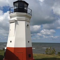 Photo taken at Vermilion Lighthouse by Edie C in the CLE p. on 9/21/2013