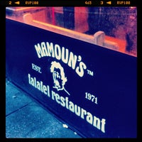 Photo taken at Mamoun's Falafel by Sebastian C. on 3/2/2013