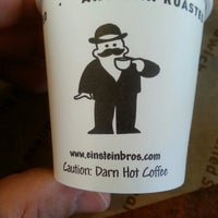 Photo taken at Einstein Bros Bagels by Harley C. on 4/25/2013