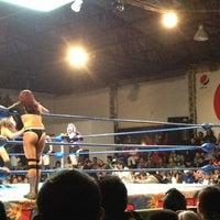 Photo taken at Arena Adolfo Lopez Mateos by fer M. on 1/20/2013