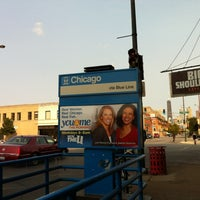 Photo taken at CTA - Chicago (Blue) by Marissa on 9/16/2012