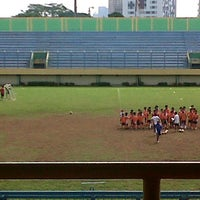 Photo taken at Stadion Lebak Bulus by Aprilia R. on 12/16/2012