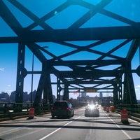 Photo taken at Maurice J. Tobin Memorial Bridge by Taylor H. on 9/23/2012