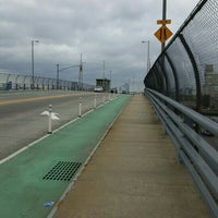 Photo taken at John Byrne-Greenpoint Avenue Bridge by Andy M. on 9/22/2015