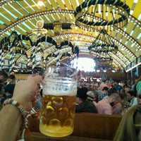 Photo taken at Löwenbräu-Festzelt by Mustafa I. on 9/29/2016