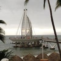 Photo taken at Playa de los Muertos by Vistalegre R. on 1/9/2013