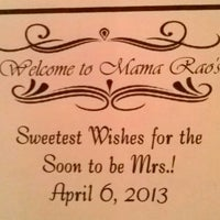 Photo taken at Mama Rao's by Valerie F. on 4/6/2013