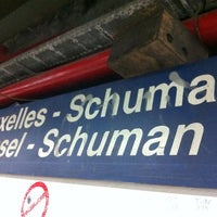 Photo taken at Brussels-Schuman Railway Station by Didrik d. on 7/2/2013