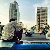 Photo taken at MH. Thamrin - Sudirman Street by Zakki H. on 7/1/2013