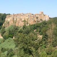 Photo taken at Calcata by Chiara B. on 8/10/2013