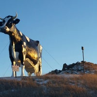 Photo taken at Salem Sue - World's Largest Holstein Cow by Craig O. on 1/12/2015