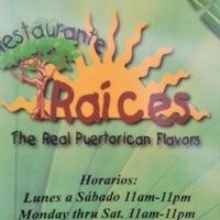 Photo taken at Raices Restaurant by Eduardo M. on 10/7/2012