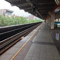 Photo taken at MRT Zhishan Station by Gary L. on 11/1/2012