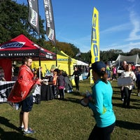 Photo taken at Rock n Roll Savannah Marathon Start by Christina M. on 11/9/2013