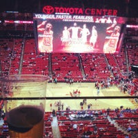 Photo taken at Toyota Center by Felipe A. on 4/30/2013