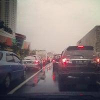 Photo taken at Gerbang Tol Tangerang by Wahyu W. on 1/15/2014