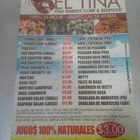 Photo taken at El Tina Seafood Restaurant by Carlton W. on 6/6/2014
