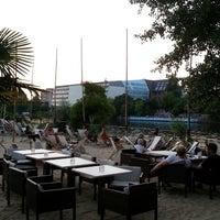 Photo taken at Sage Restaurant & Beach by Sylvain L. on 7/8/2013