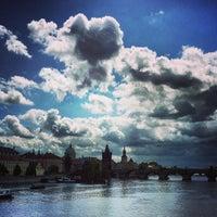 Photo taken at Mánesův most by Daniel E. on 5/13/2013