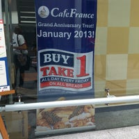 Photo taken at Cafe France by Gio G. on 1/18/2013