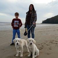 Photo taken at Llansteffan Beach by Simon H. on 10/31/2015