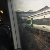 Photo taken at Eastbourne Railway Station (EBN) by Gordon C. on 1/26/2013