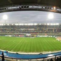 Photo taken at Stadio Marc'Antonio Bentegodi by Michele B. on 3/30/2013