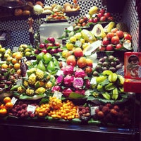 Photo taken at Mercat de Sant Josep - La Boqueria by Ксения Г. on 3/23/2013