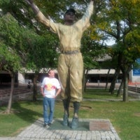 Photo taken at Jackie Robinson Statue by Alan F. on 9/29/2012