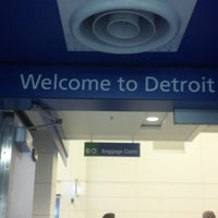Photo taken at Detroit Metropolitan Wayne County Airport (DTW) by Ideene on 6/3/2013
