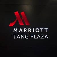Photo taken at Marriott Singapore Tang Plaza by Hugh W. on 11/17/2015