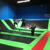 Photo taken at Bounce Trampoline Sports by Katherine B. on 4/23/2013