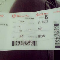Photo taken at Lion Air FLOPS 1A by wiwin f. on 1/11/2014