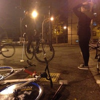 Photo taken at NYC Bike Polo - Baltic Court by Deco on 11/22/2013