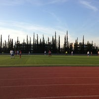 Photo taken at Soccer Field & Running Track ACG-Deree by Panos M. on 3/23/2014