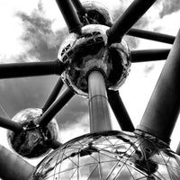 Photo taken at Atomium by Daniel B. on 4/16/2013